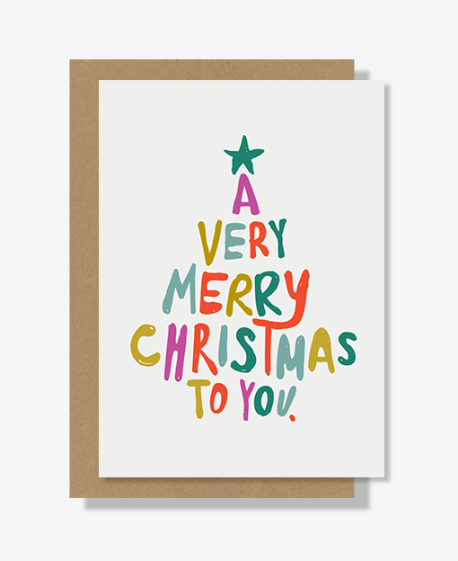 Very Merry Christmas.A Very Merry Christmas Greeting Card